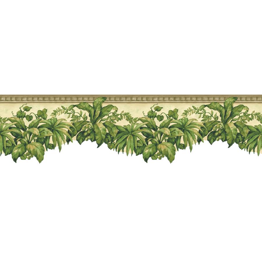 Tropical Plants Prepasted Wallpaper Border at Lowescom 900x900