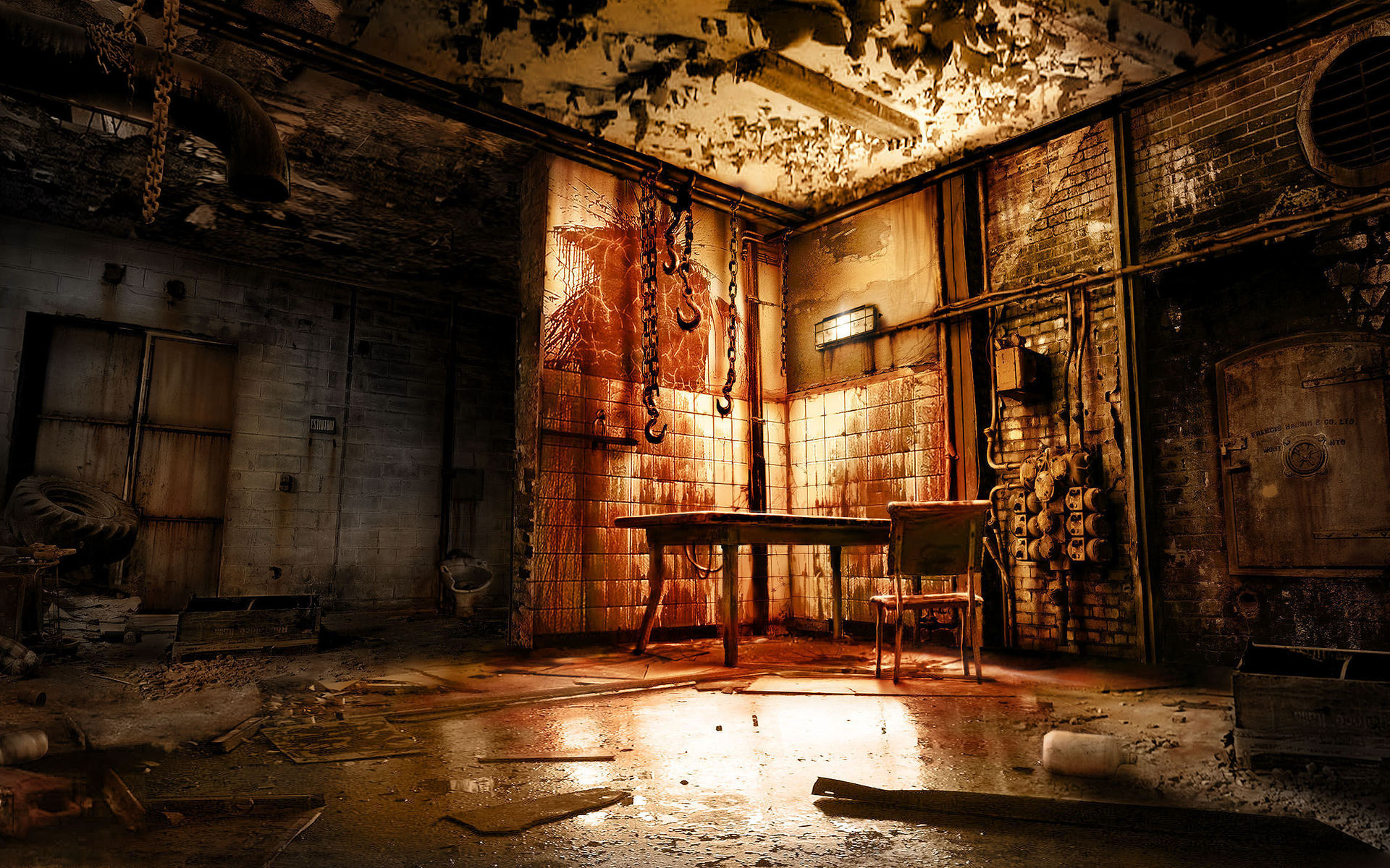 blood room macabre reflection gross evil rust table games wallpaper 1920x1200