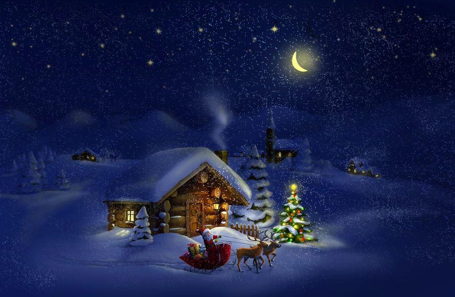Christmas night with Santa 4K Ultra HD wallpaper   4k Wallpaper 920x600