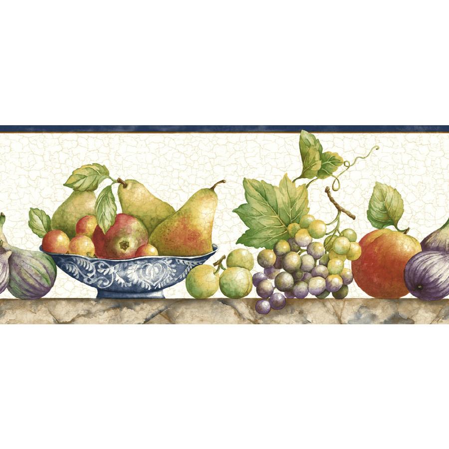 Sunworthy 8 Fruit Watercolor Prepasted Wallpaper Border at Lowescom 900x900