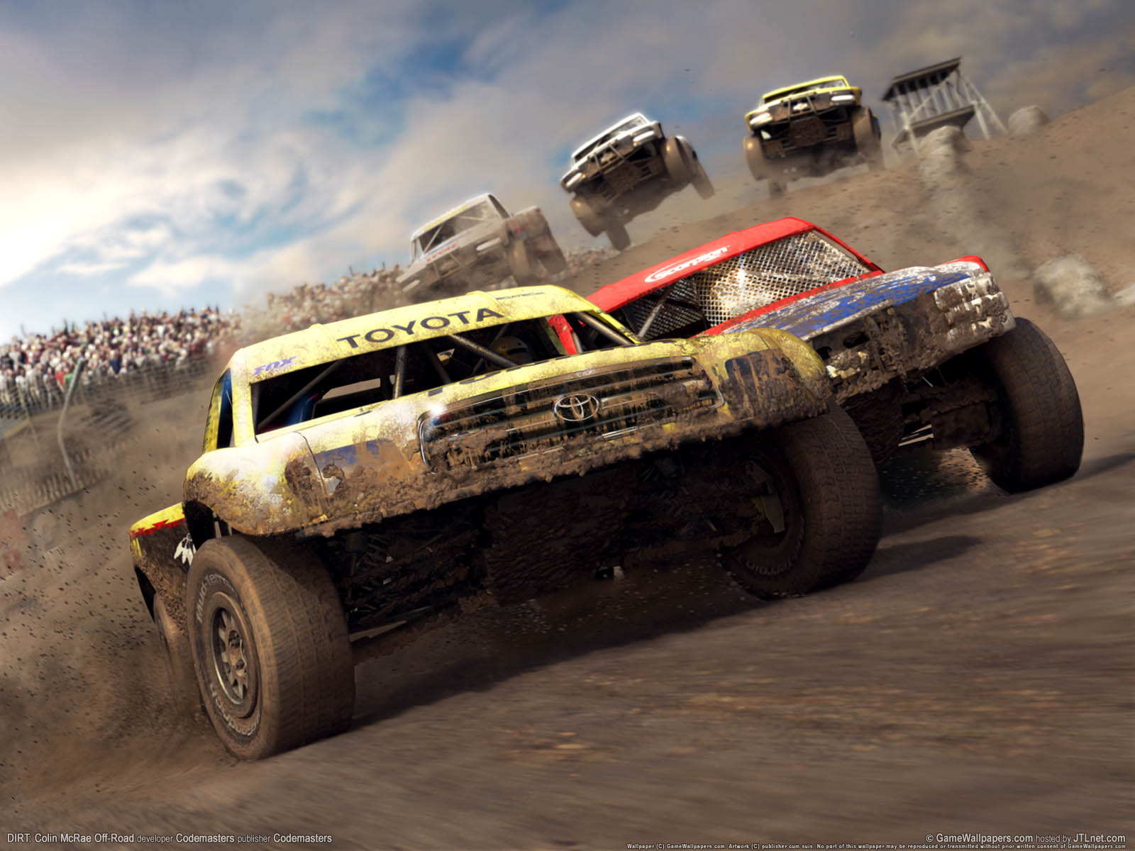 Toyota Off Road   Racing Games Wallpaper Image featuring Colin Mcrae 1600x1200