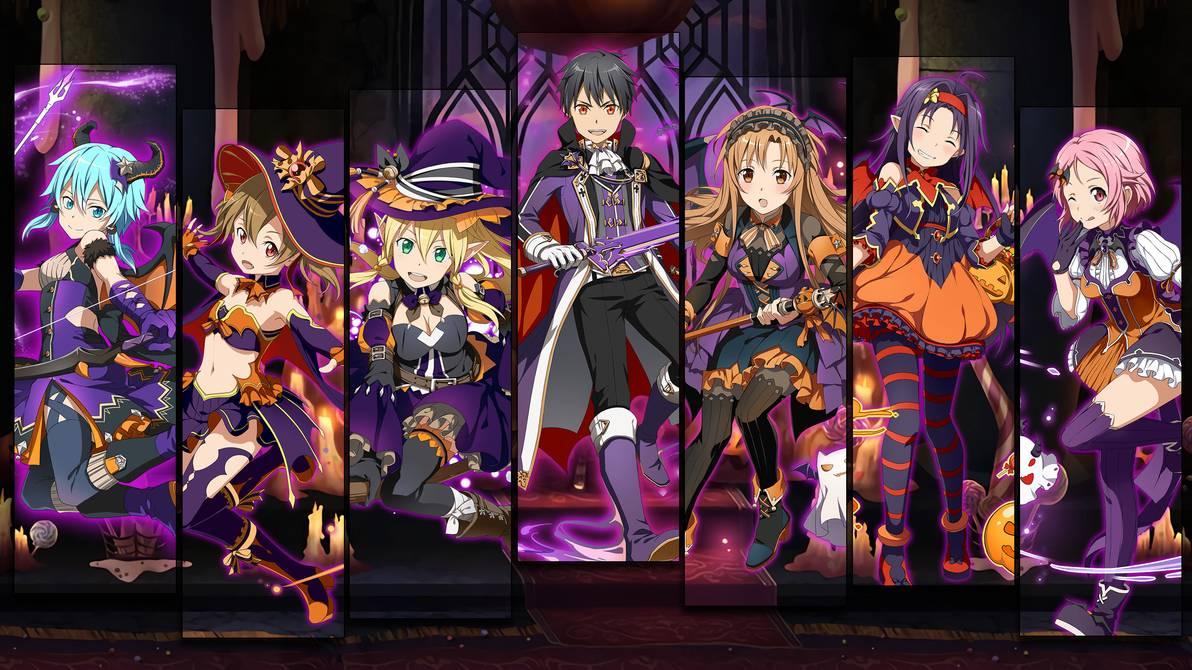 Halloween Gacha Wallpaper   SAO Memory Defrag by Kaz Kirigiri on 1192x670