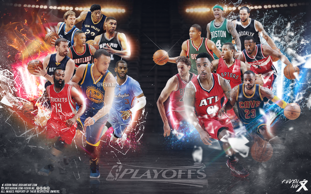 nba playoffs wallpaper by kevin tmac d8pv9z5png 1024x640