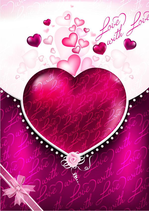 Valentines Background 123Freevectors 601x850