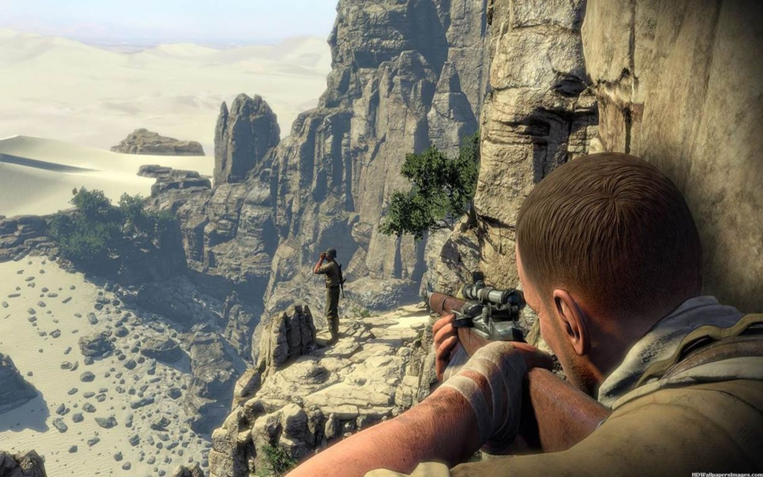 sniper elite 3 game hd wallpaper 2560x1600