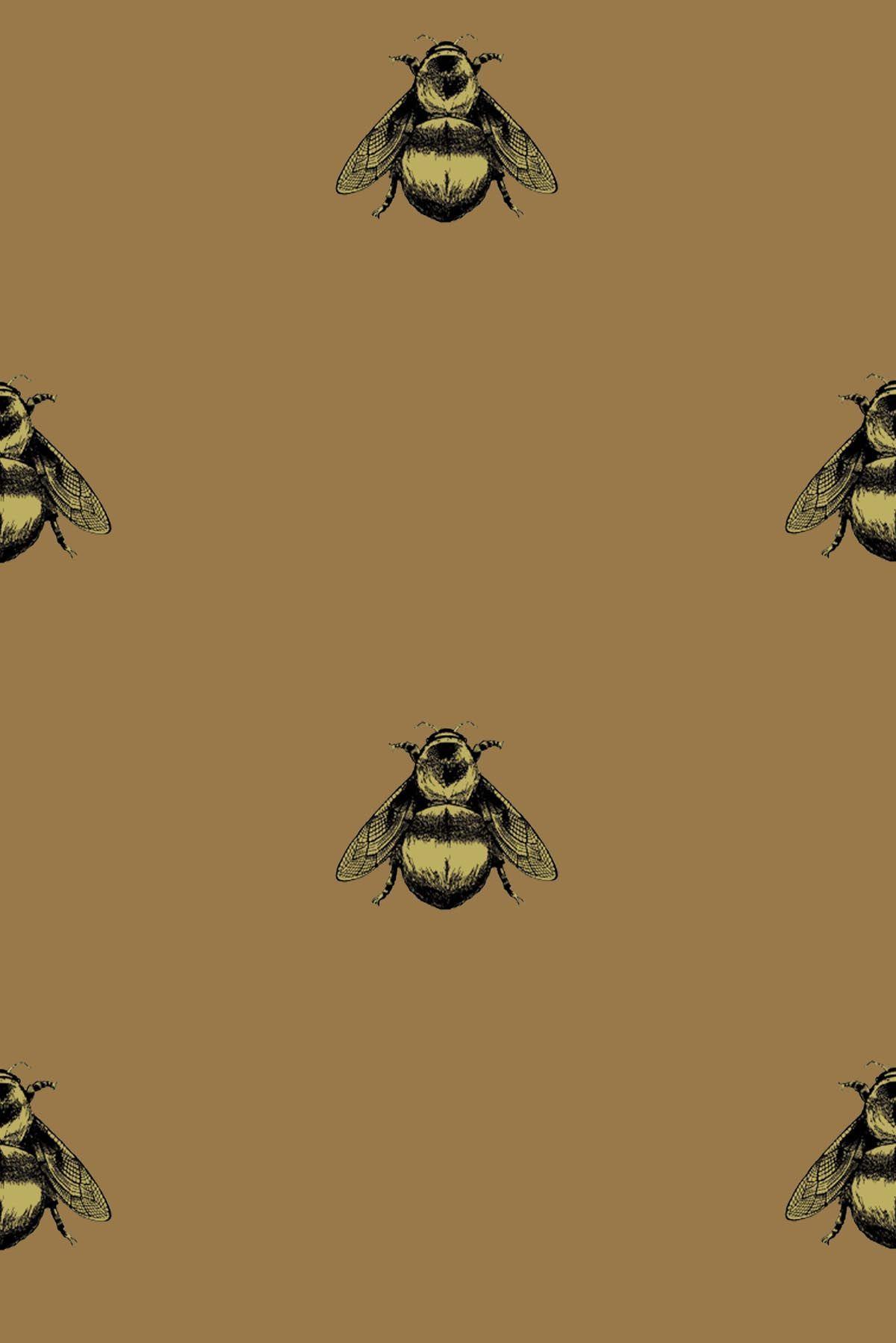 Timorous Beasties Wallcoverings   Napoleon Bee Vinyl wallpaper 1200x1798