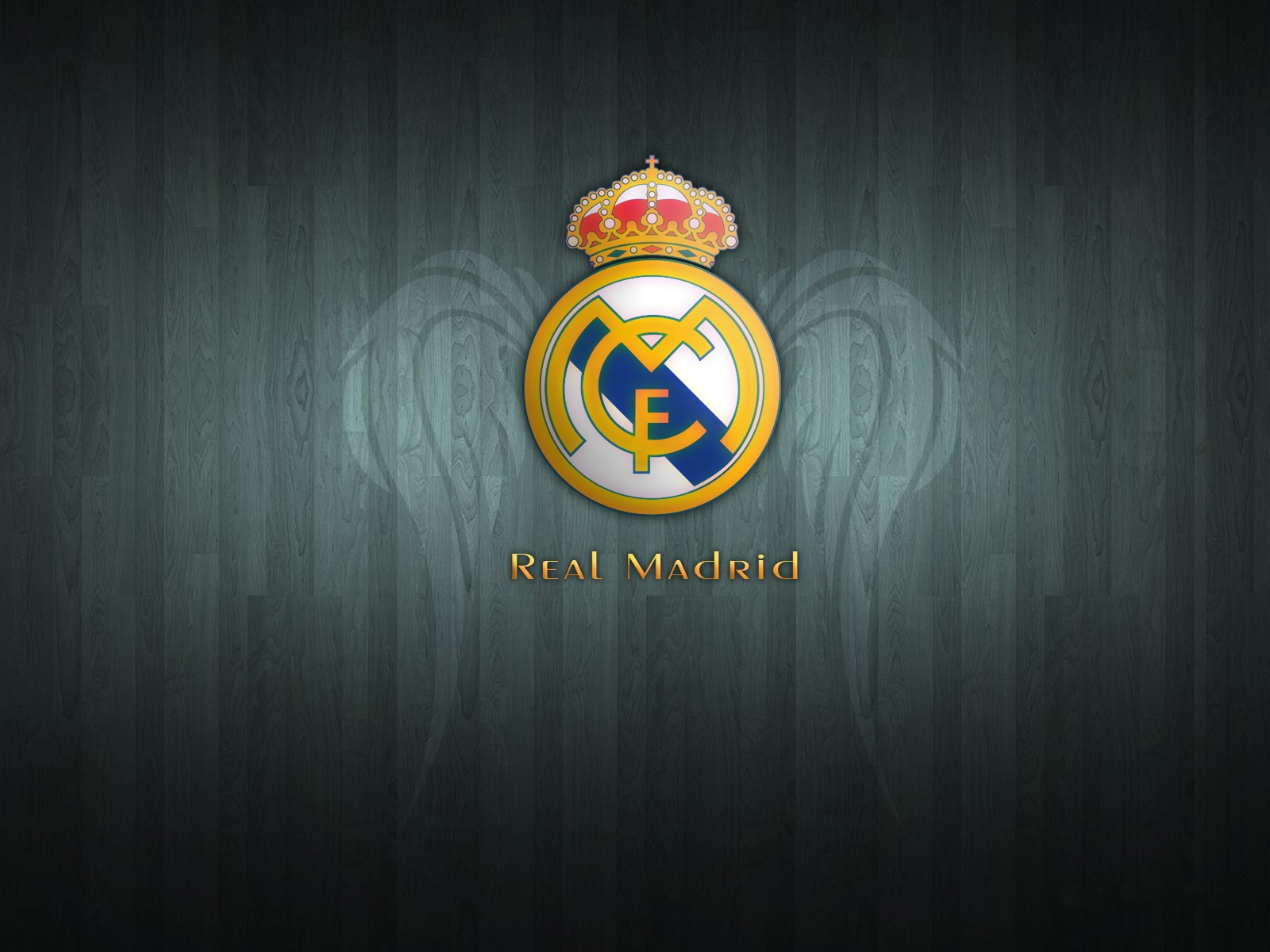 Real Madrid FC Black Logo Bedroom Wall Decal Stickers Ideas 1600x1200