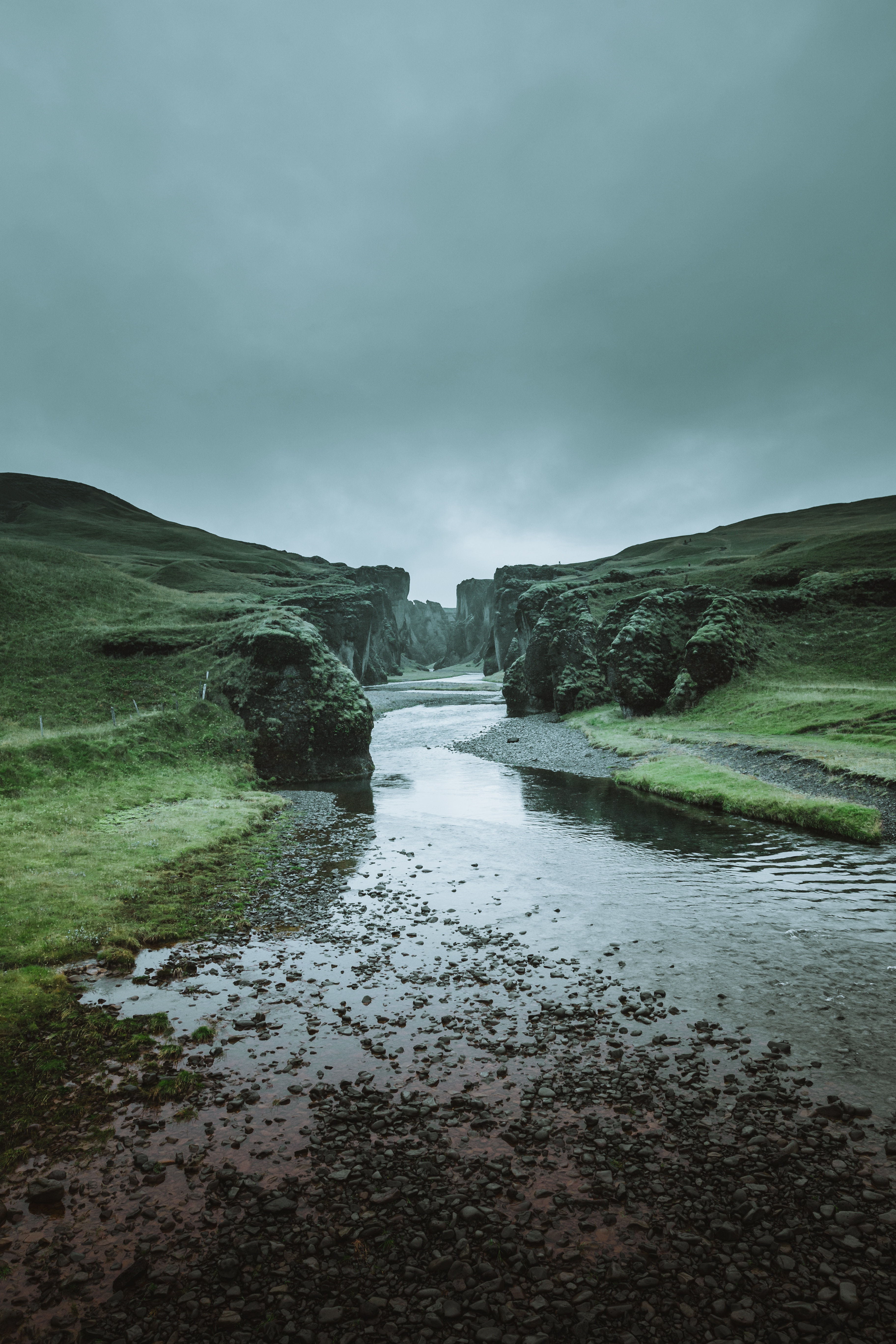 River Stream Coast Steep Stony Ditch   Faroe Islands Wallpaper 3648x5472