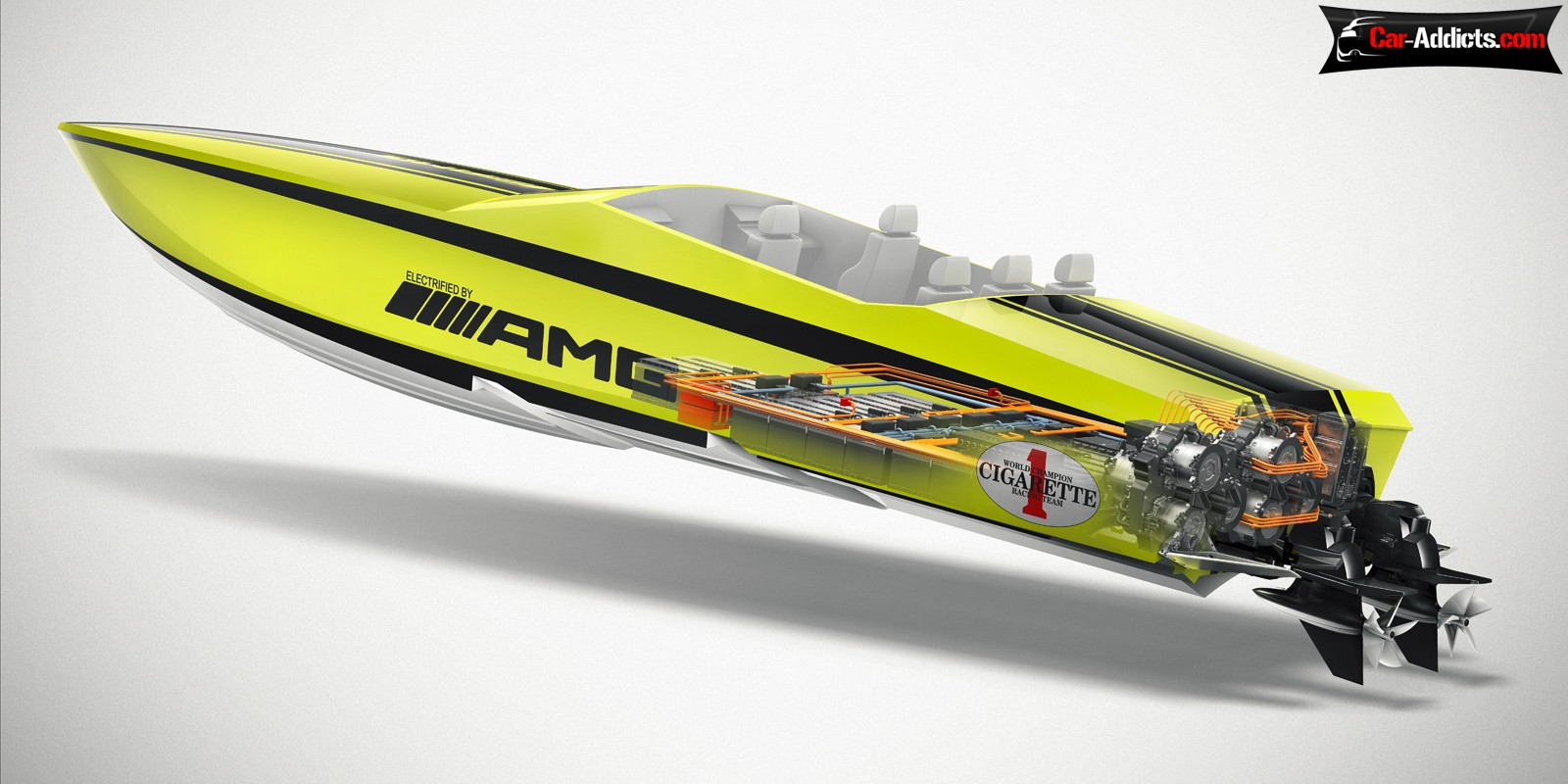 Cigarette AMG Electric Drive the fastest electric boat in the world 1600x800