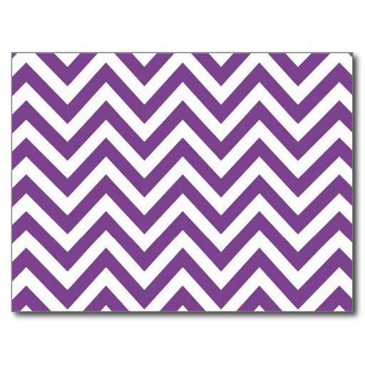 Zig Zag Purple and white striped Template Pattern Postcards 512x512