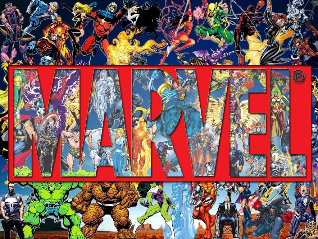 Gallery images and information Marvel Superhero Logos Wallpaper 1024x768