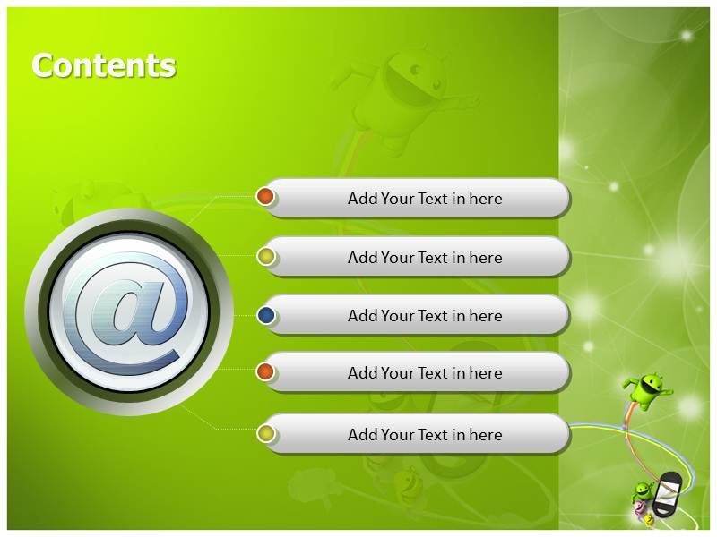Android PowerPoint Templates   Presentation PPT Backgrounds for Power 800x600
