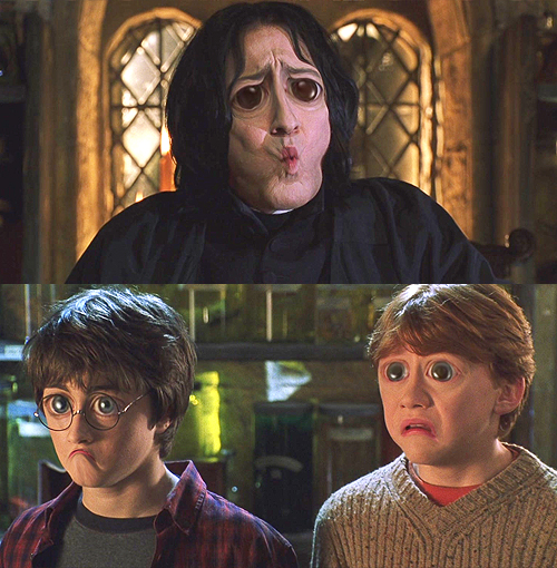 Harry Potter sad eyes Harry Potter Snape Ron googly eyes sad faces 500x510