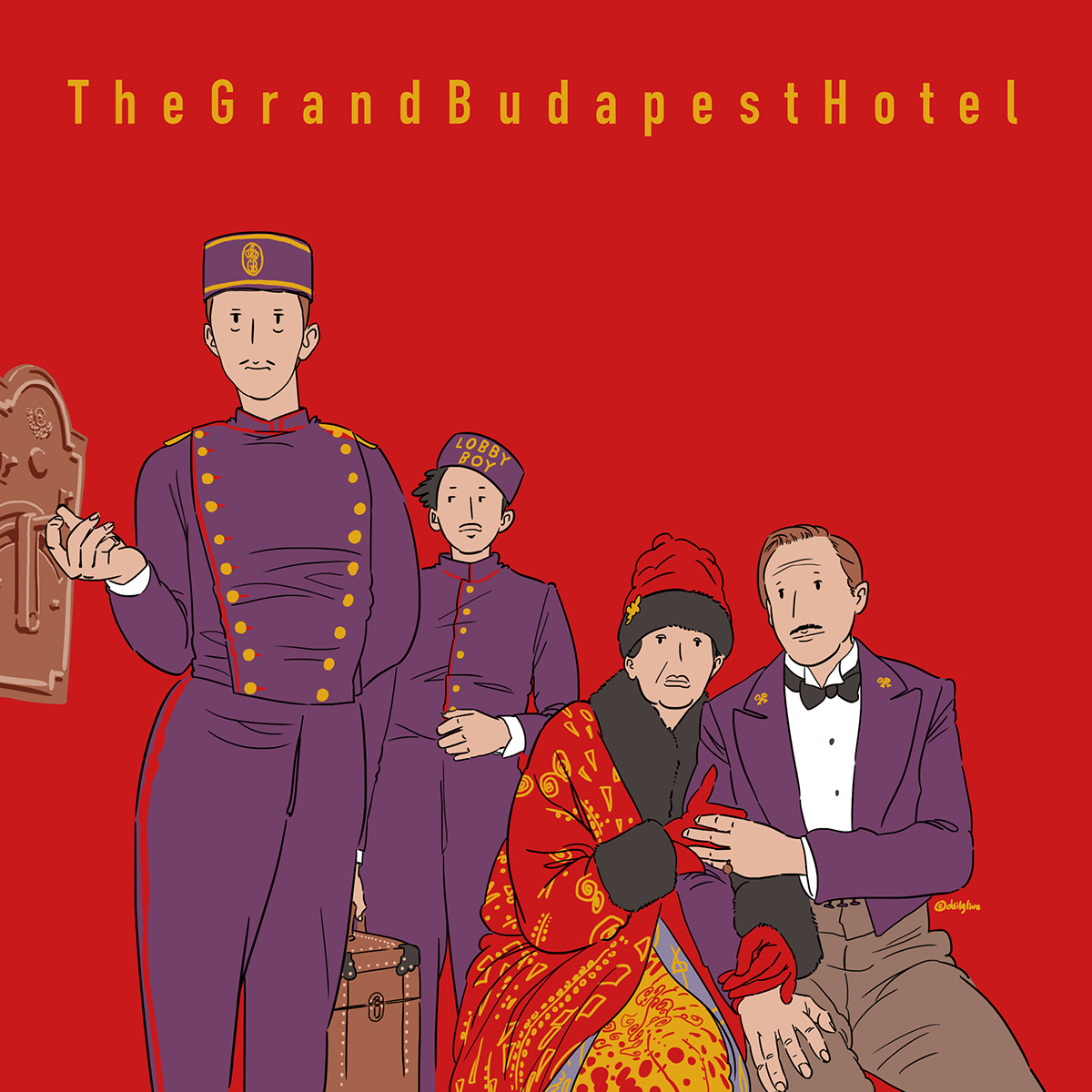 The Grand Budapest Hotel on Behance 1200x1200