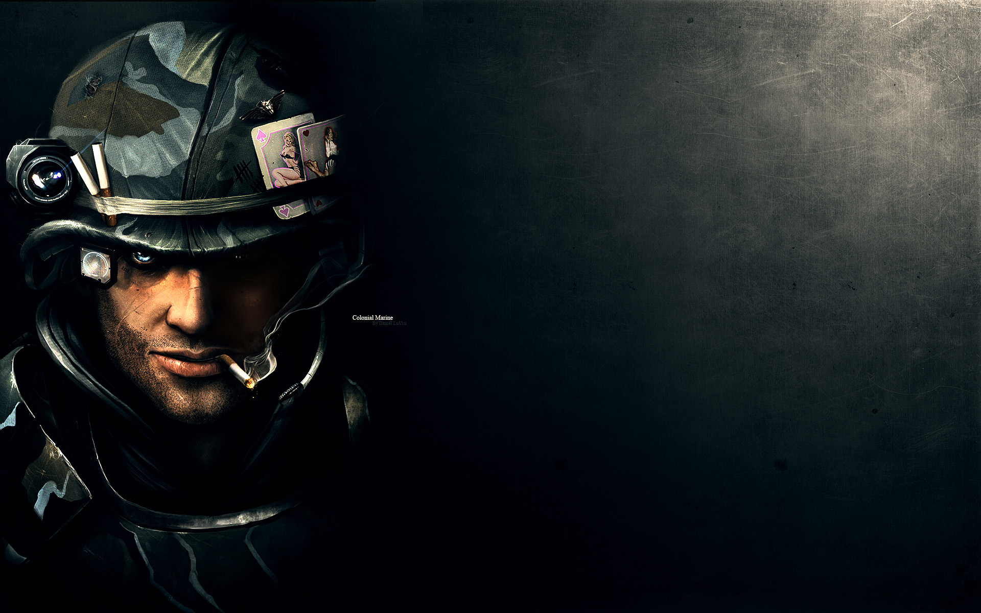 1920x1200 Portrait of a soldier desktop PC and Mac wallpaper 1920x1200