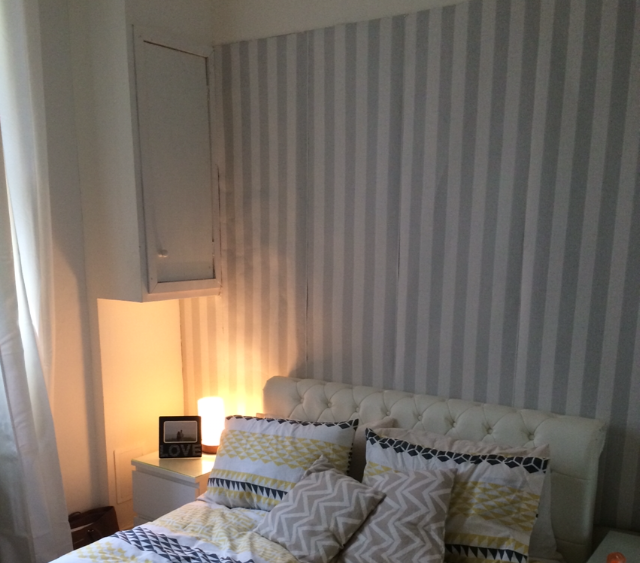 Cover Up Ugly Wallpaper In A Rental   Le Chic By Nadia 640x563