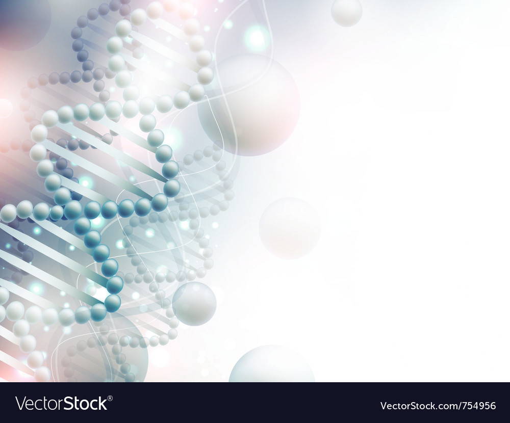Science background with dna Royalty Vector Image 1000x830
