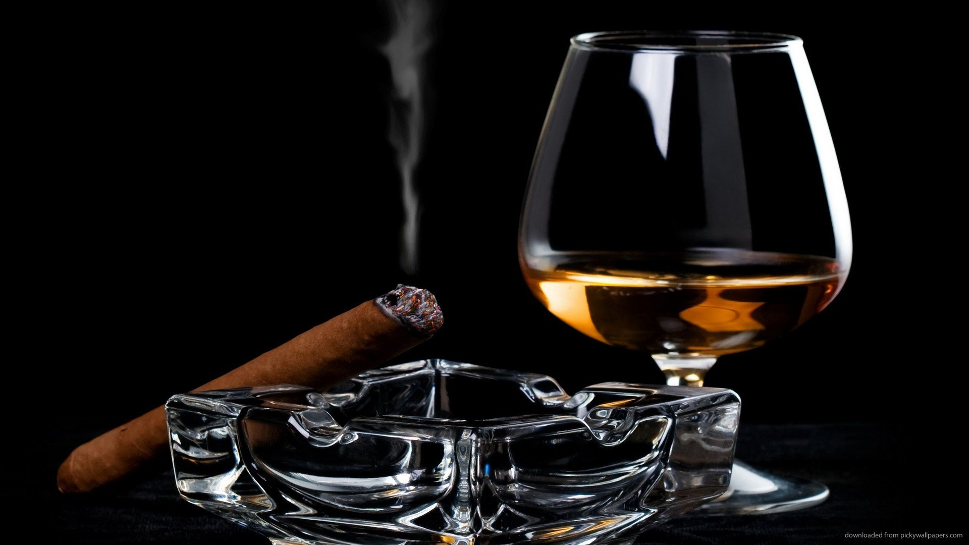 Cigar Picture For iPhone Blackberry iPad Cognac And Lighting Cigar 1920x1080