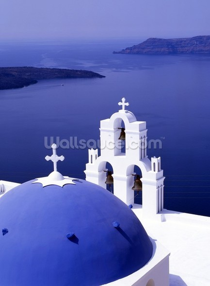 Sea View Santorini Wall Mural Sea View Santorini Wallpaper 433x588