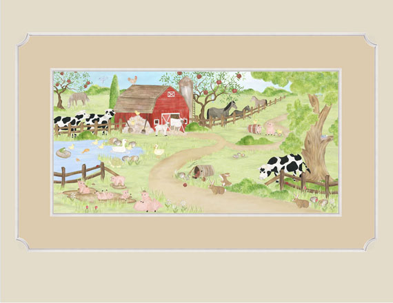farm wallpaper wall mural 570x440