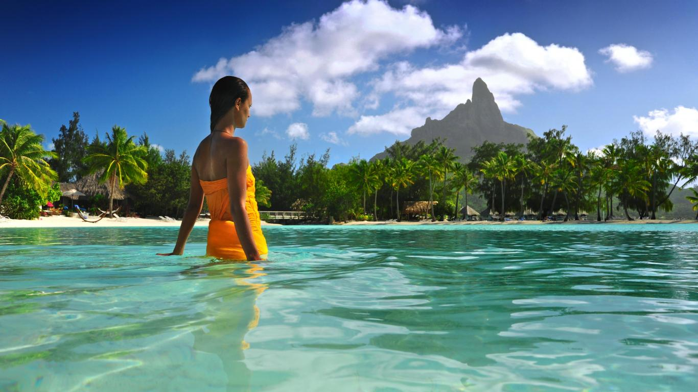 Bora bora paradise   99008   High Quality and Resolution Wallpapers 1366x768