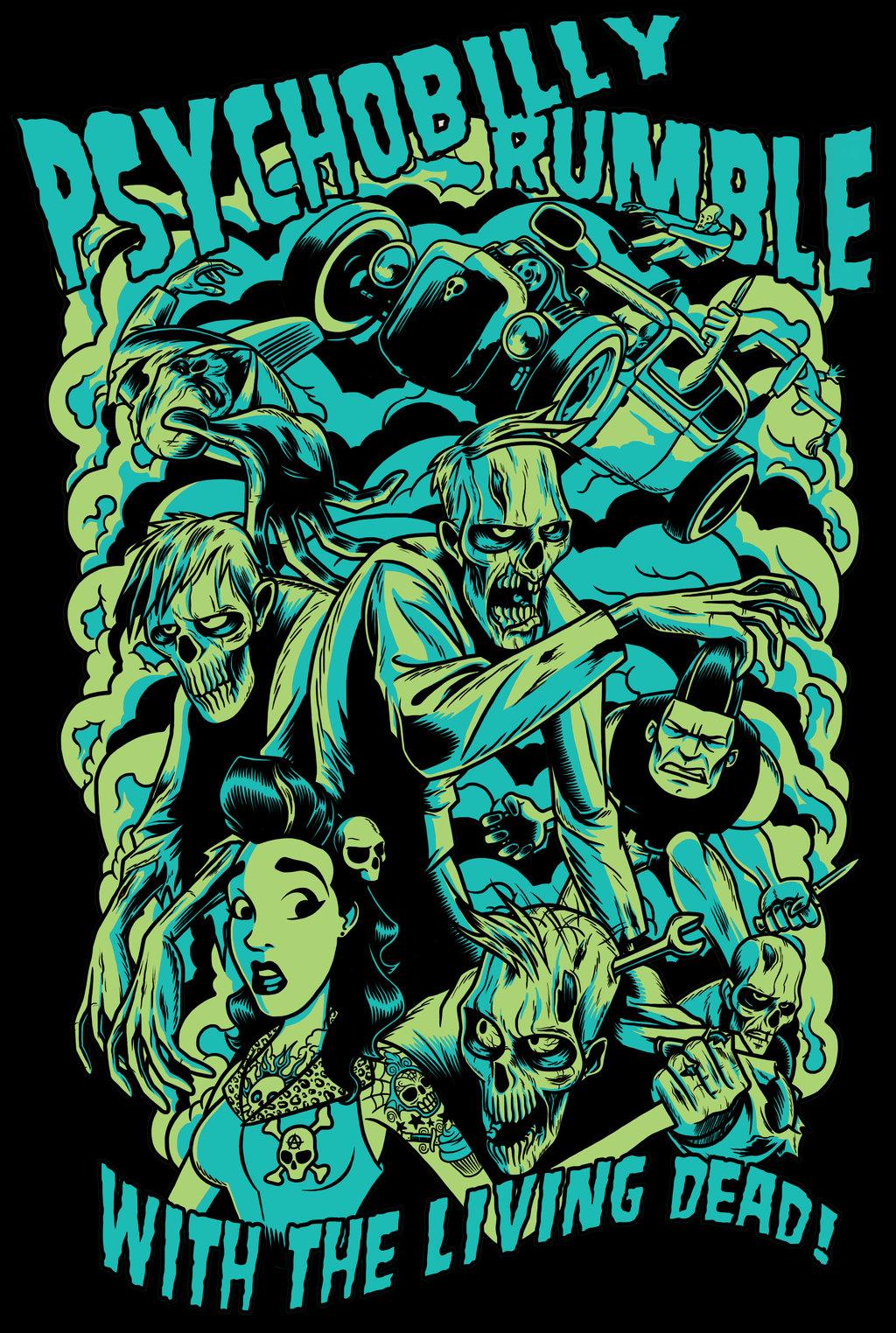 Best 54 Psychobilly Backgrounds on HipWallpaper Psychobilly 1024x1524