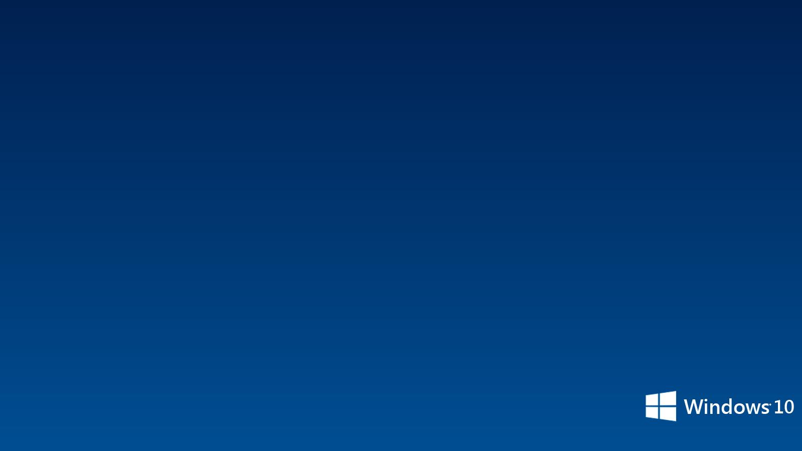 Blue Windows 10 Wallpaper PC 9524 Wallpaper High Resolution 1600x900