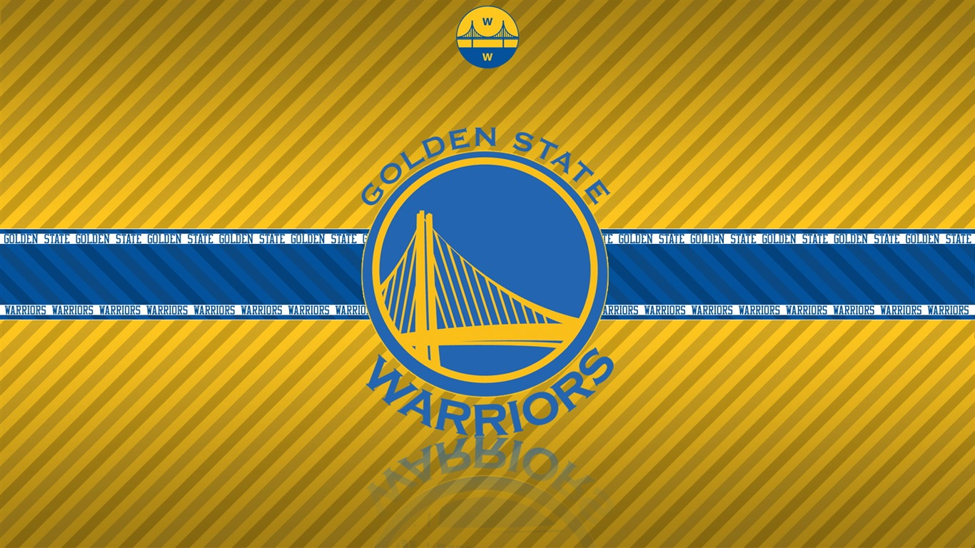 NBA Golden State Warriors quipe logo large cran HD   1366x768 1366x768
