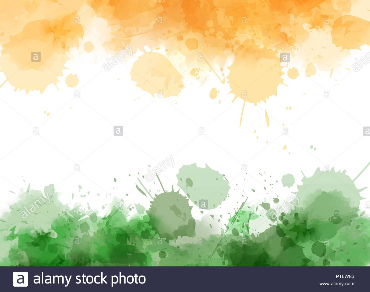 Abstract watercolor splashes in India flag colors Conceptual 1300x1027