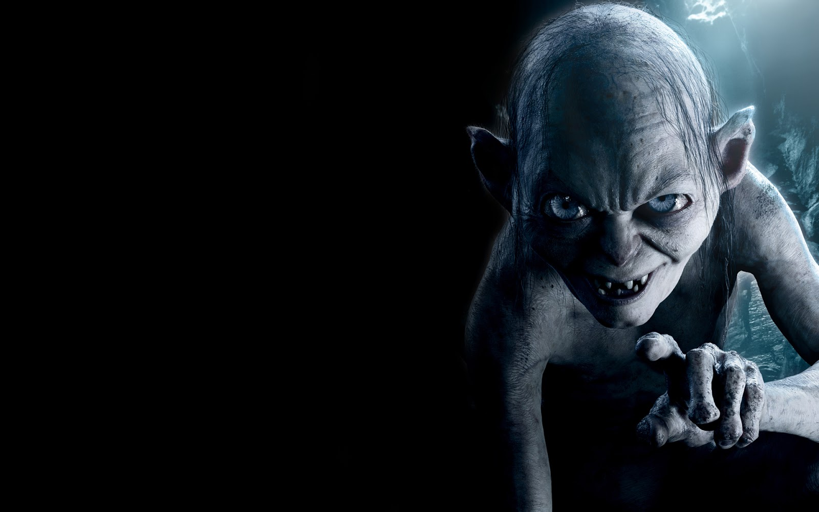 Gollum Hobbit An Unexpected Journey Movie HD Wallpaper 1600x1000