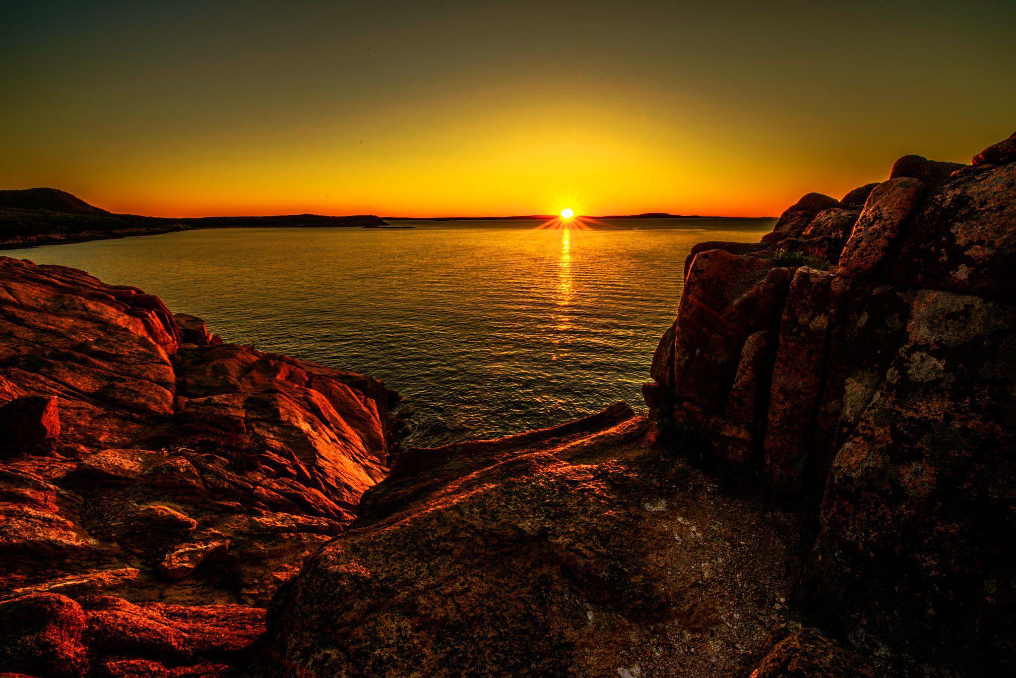 Sunset at acadia national park HQ WALLPAPER   91219 2048x1367