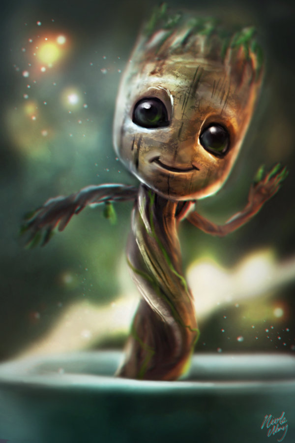 Free download Little Baby Groot by Ice wolf elemental