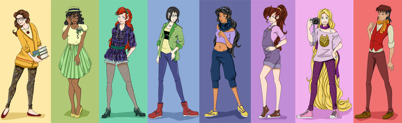 Hipster Disney Princesses by Mayanna 1280x392