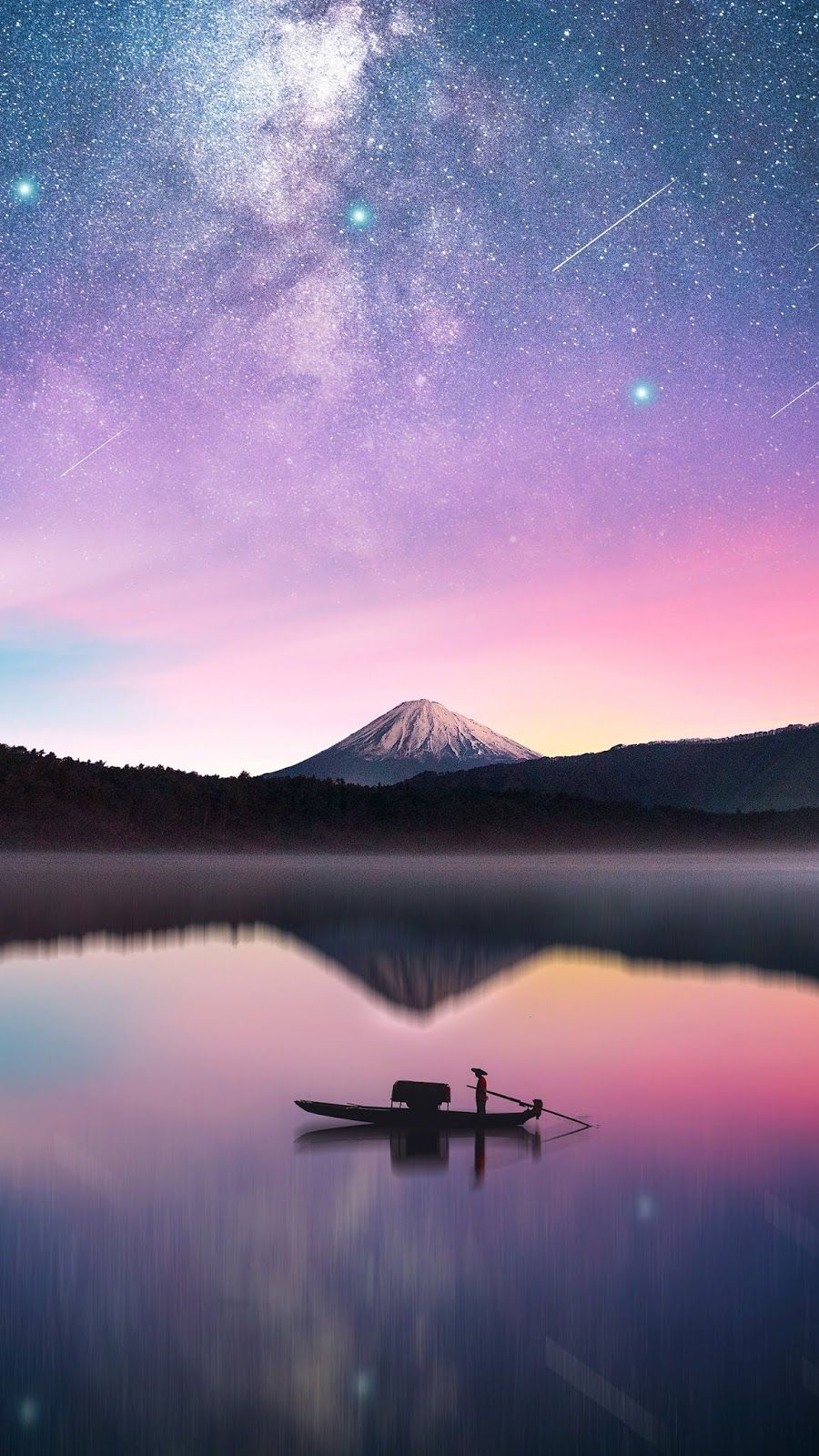 Milky way in mount Fuji wallpaper Scenery Nature wallpaper Nature 900x1600