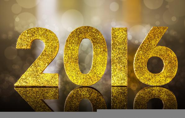 Wallpaper 2016 happy new year golden glitter bokeh 596x380