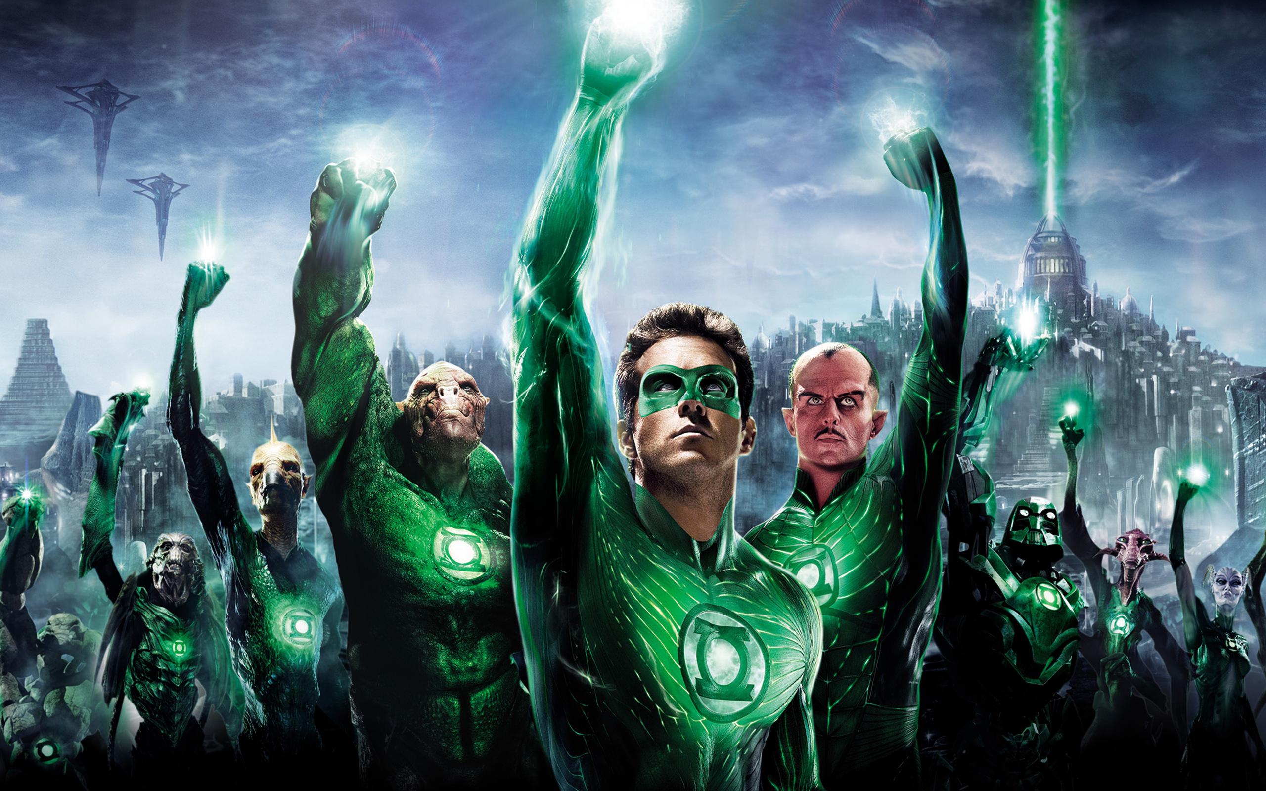 Green Lantern 3D HD wallpaper 2560x1600