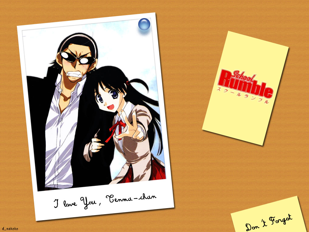School Rumble Wallpaper Love You Tenma Chan   Minitokyo 1024x768