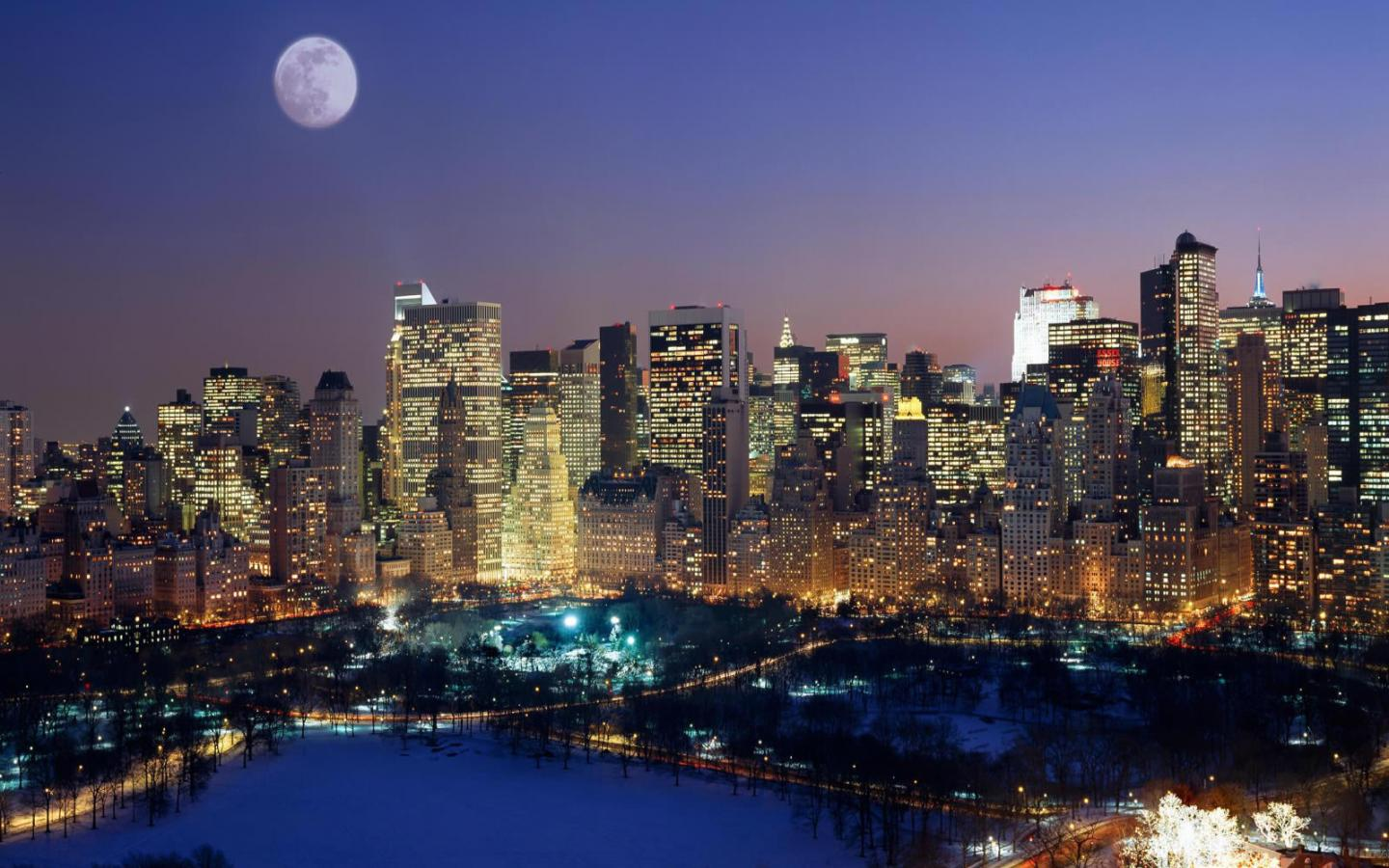 New York City Christmas Time Wallpaper Cities new york usa 1440x900