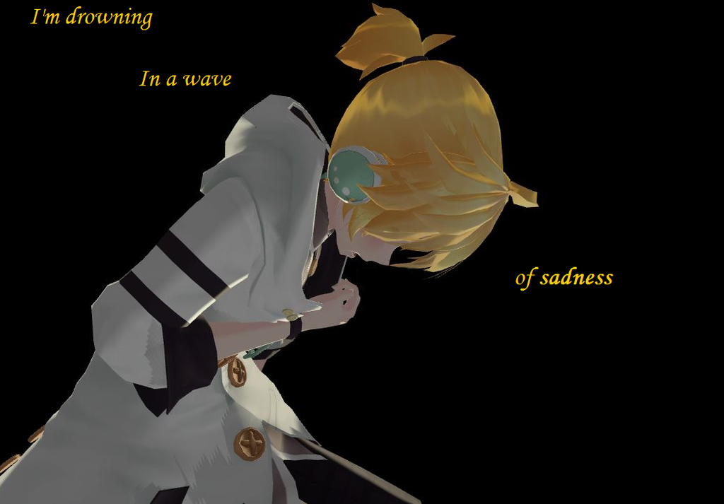 MMD] Im Drowning Here in a Wave of All my Tears by MikuxLen4eves on 1024x713