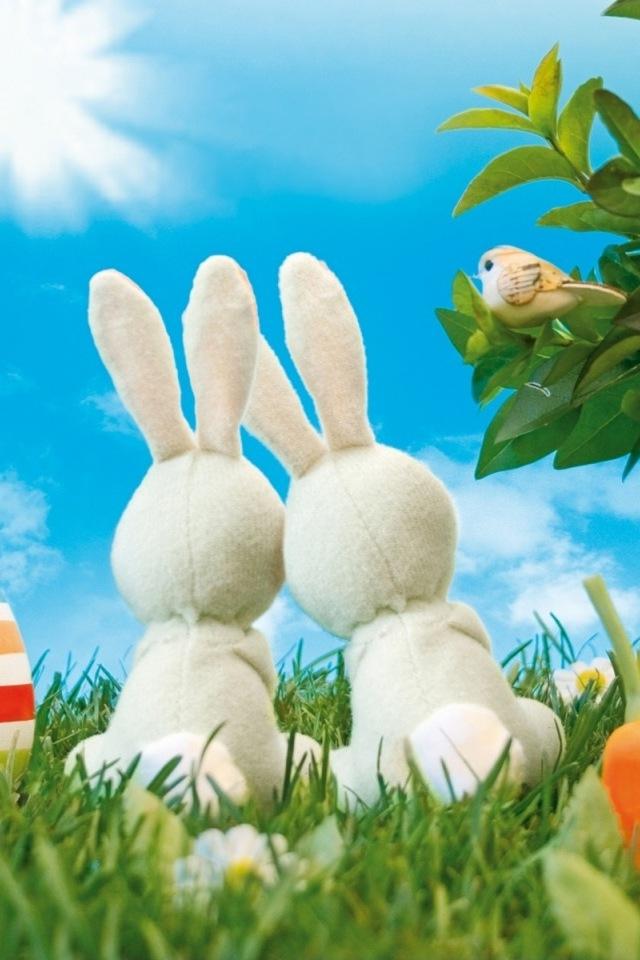 Easter Bunnies iPhone HD Wallpaper iPhone HD Wallpaper download 640x960