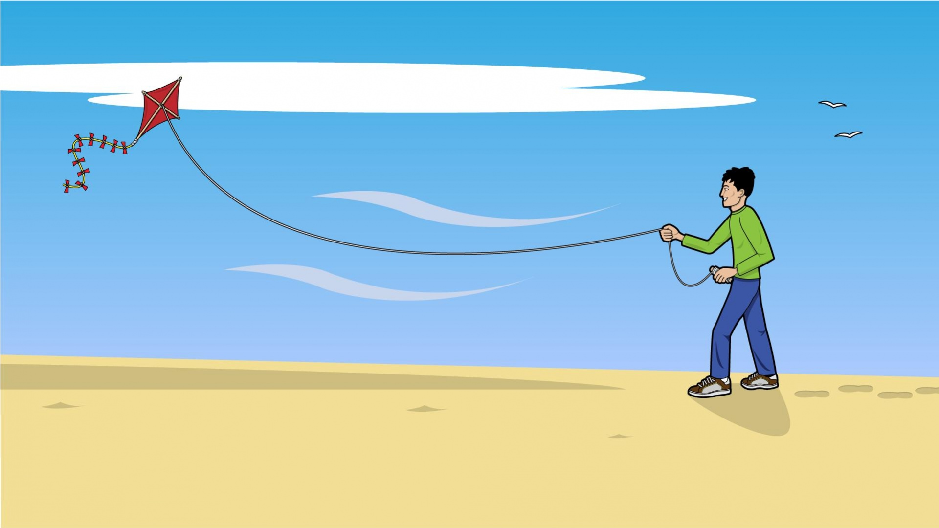 Boy Flying Kite Wallpapers   1920x1080   206544 1920x1080
