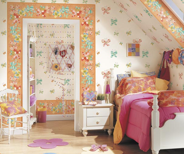 Wallpaper Designs for Kids Room Playroom and Rooms for Teens 605x505