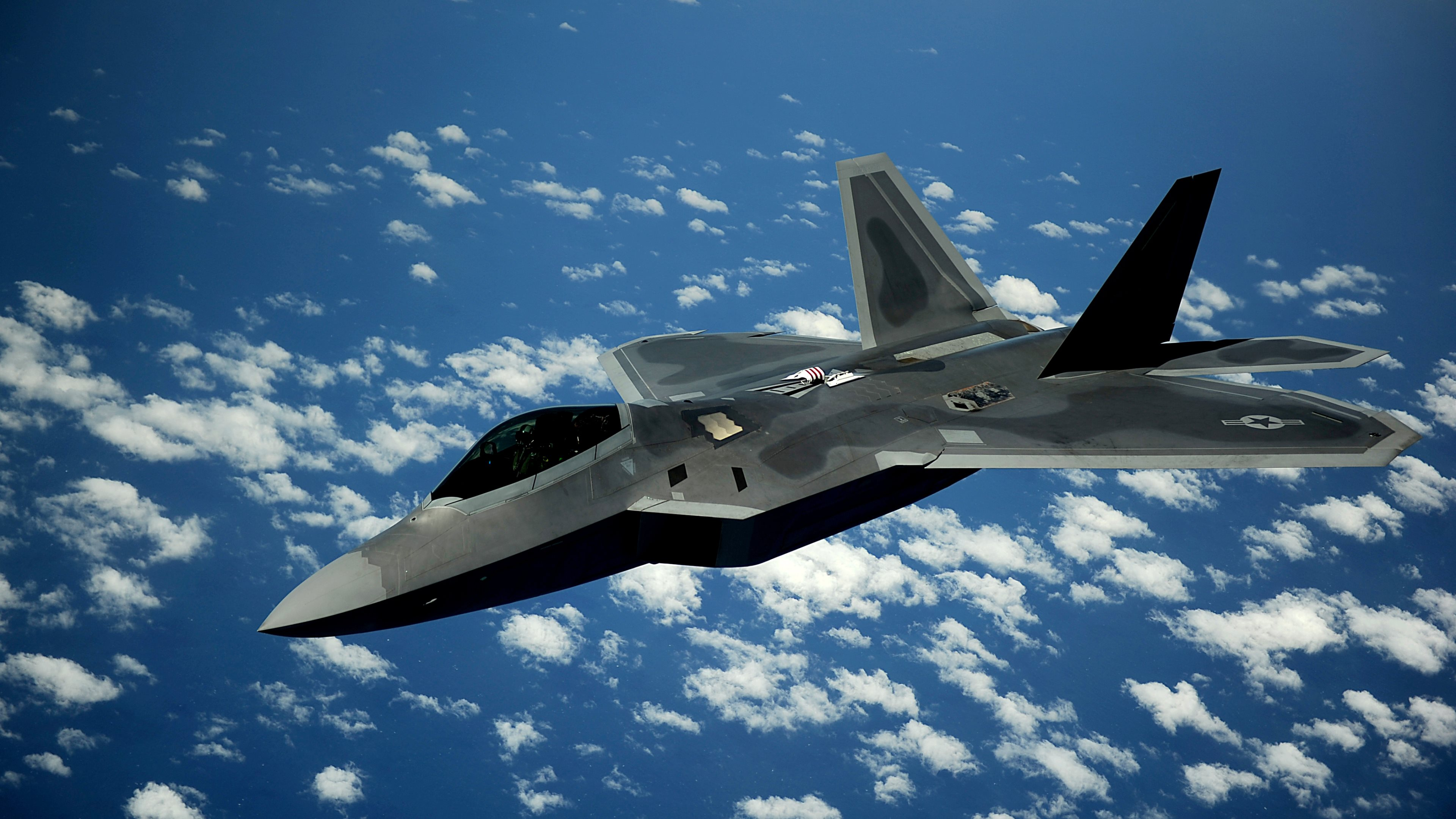 F 22 Air Force Jet Airplane Sky Flying HD POSTER