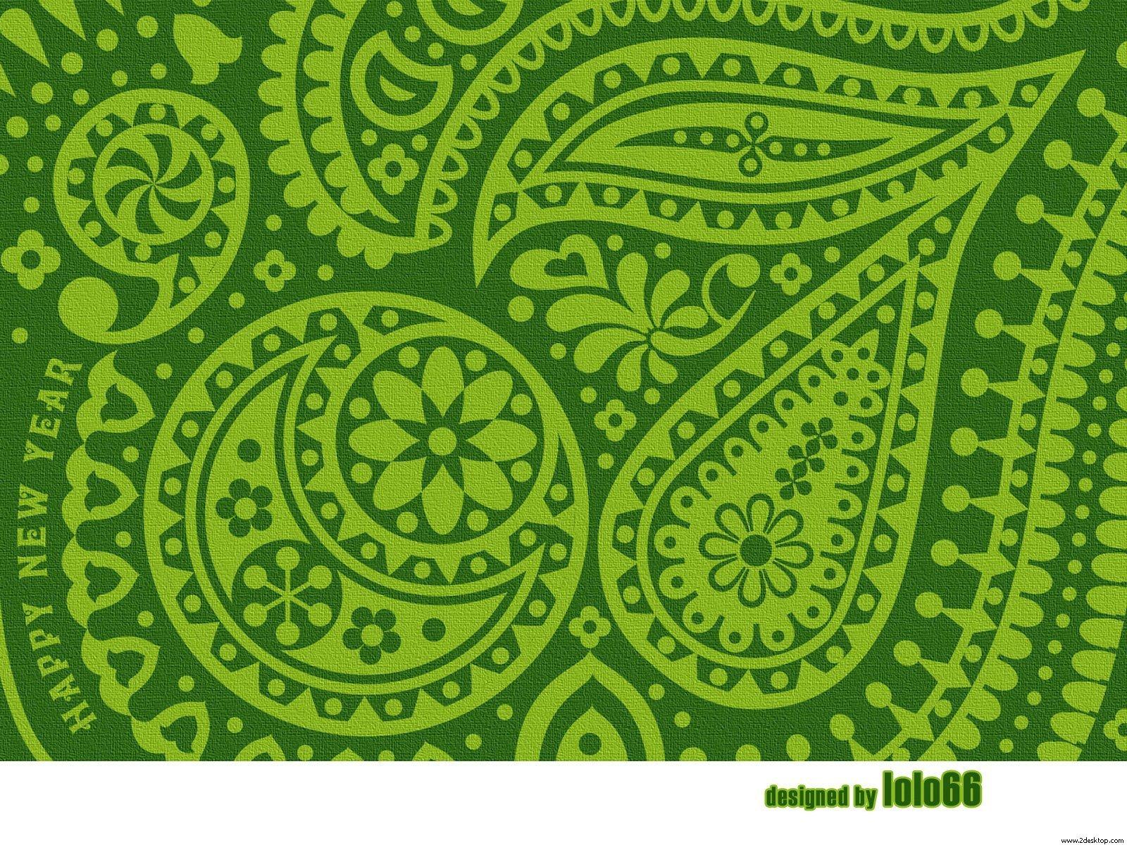Green Paisley Wallpaper   Green Wallpaper 19219352 1600x1200
