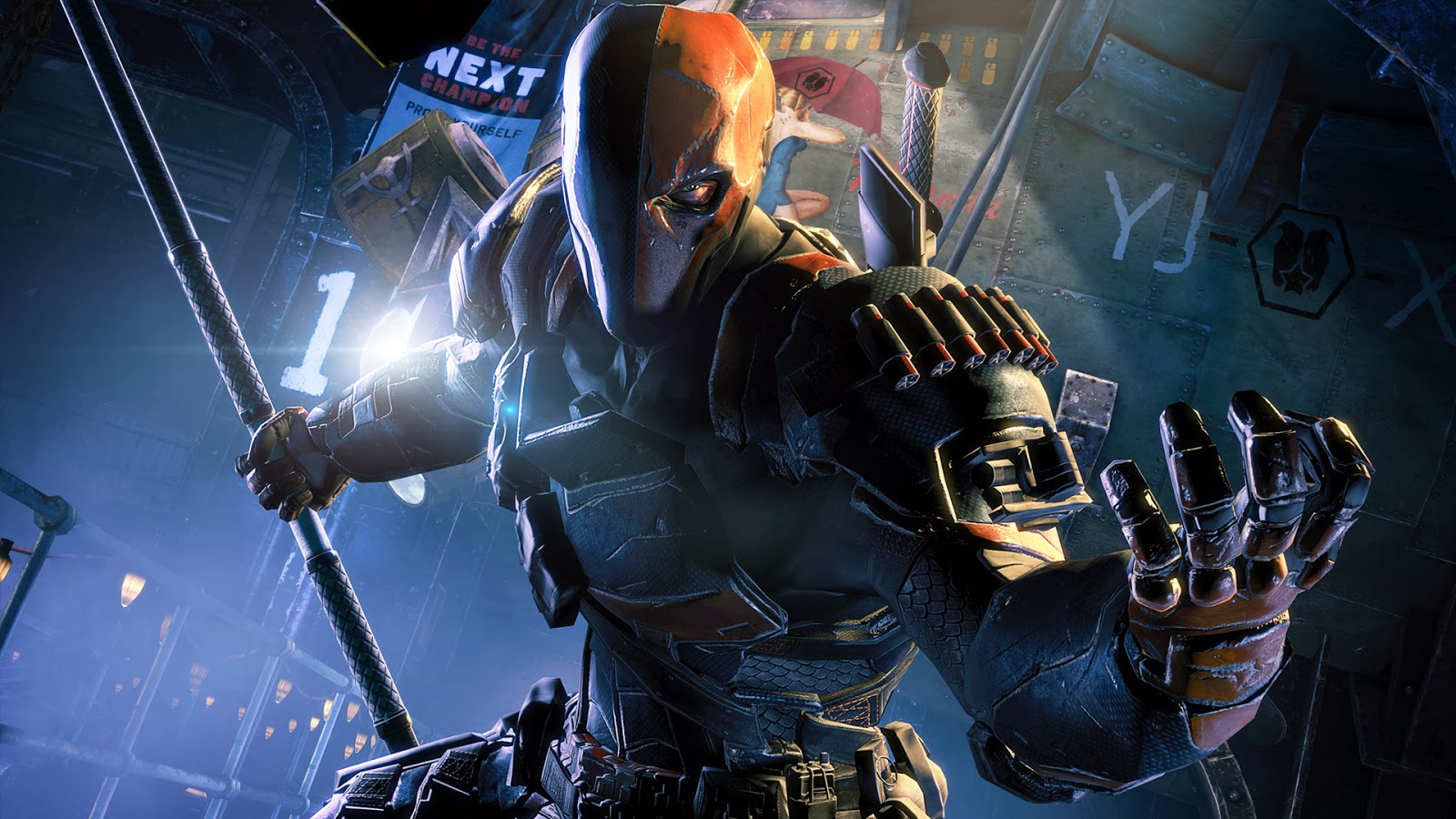 Deathstroke Batman Arkham Origins Wallpaper HiresMOVIEWALLcom 1600x900