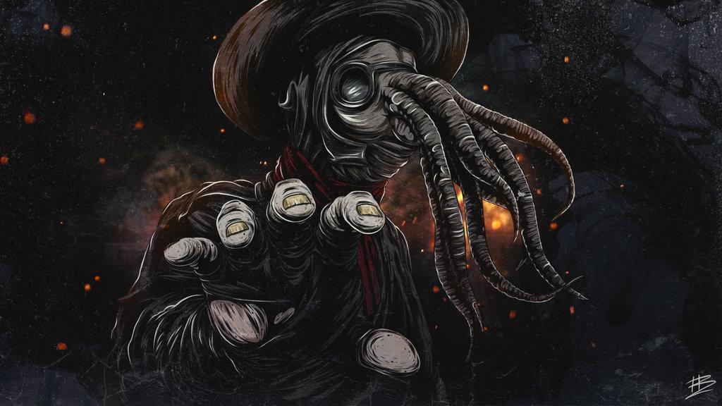Plague doctor Chtulhu by besenheide 1024x576