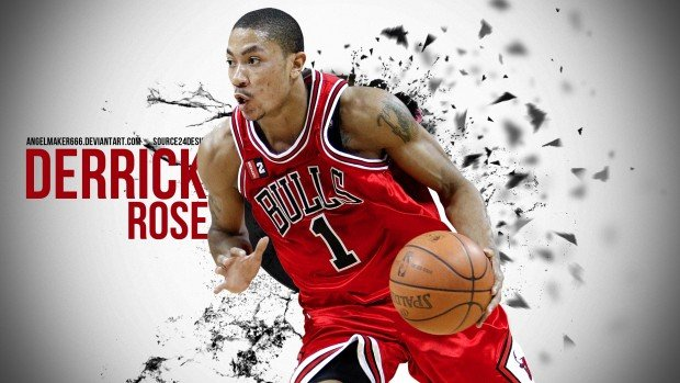 Derrick Rose Backgrounds Wallpapers Backgrounds Images Art Photos 620x349