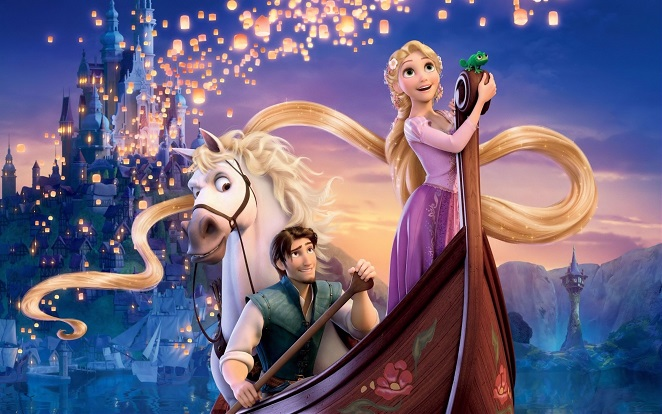 Childrens Wallpaper Tangled Wall Murals Disney Wall Murals 662x414