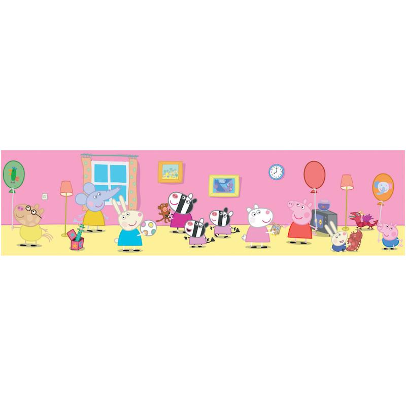 Wallpaper Fine Decor Fun4Walls Peppa Pig Pink Border Motif 800x800