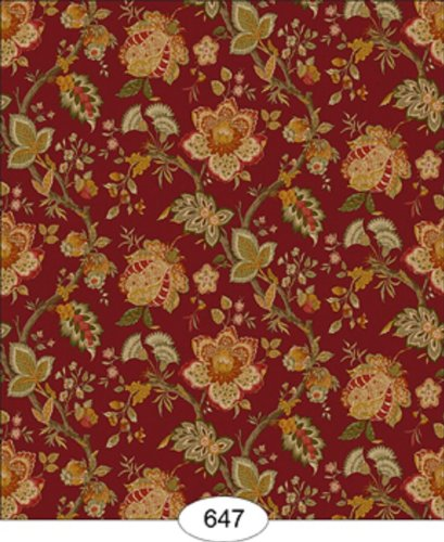Dollhouse Wallpaper Jacobean Red 409x500